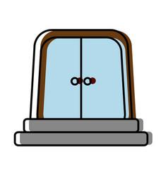 elevator door icon vector image vector image
