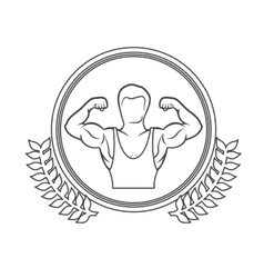 Fitness healthy lifestyle vector image