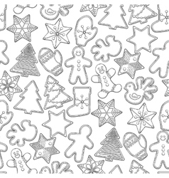 Graphic Christmas gingerbread vector image vector image