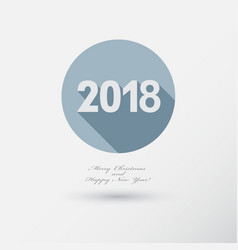 happy new year 2018 flat icons set with berry vector image