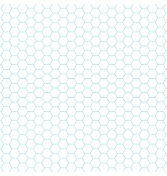 hexagon pattern background vector image vector image