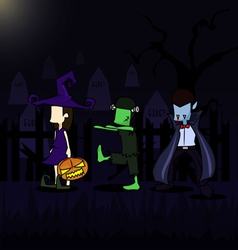 holloween background vector image