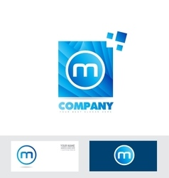 Letter M logo icon vector image vector image