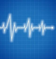 Medical design - cardiogram vector image vector image