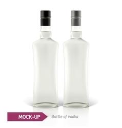 Mockup vodka bottle vector