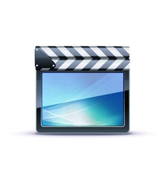 movie clapper board vector image vector image