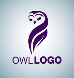 OWL LOGO 3 vector image vector image