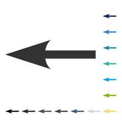 Sharp arrow left icon vector