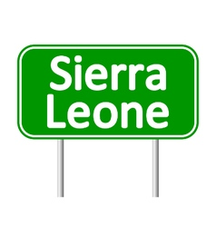 Sierra leone road sign vector