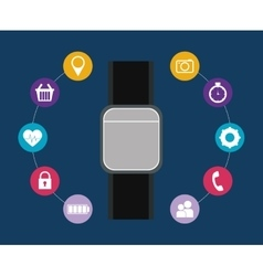 smartwatch wearable technology icon image vector image