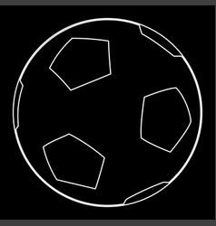 Soccer ball the white path icon vector