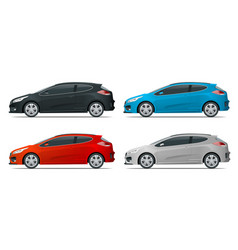 Sportcar or hatchback vehicle suv car set on vector