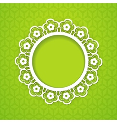 spring background with a frame vector image