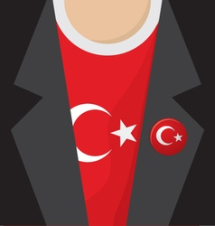 T-Shirt With Turkey Flag vector image vector image
