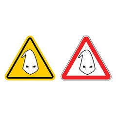 Warning sign of racism hazard yellow sign race vector