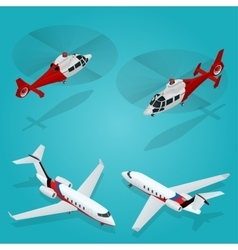 Passenger airplane private jet passenger vector