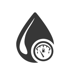 Drop petroleum silhouette design vector