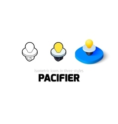 Pacifier icon in different style vector