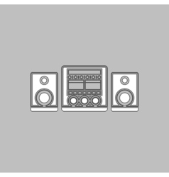 Sound System computer symbol vector image