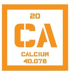 Calcium chemical element vector