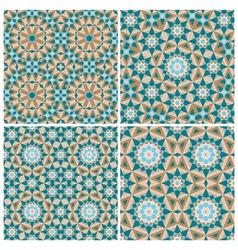 Set of mosaic patterns vector