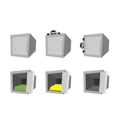 Set of cartoon safes vector