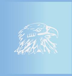 Hand-draw bird eagle hawkkitevulture stencil vector