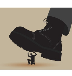 Boot Crushing vector image