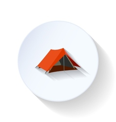 Tourist tent flat icon vector