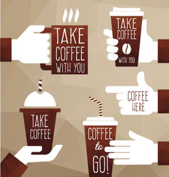 Take coffee with you vector