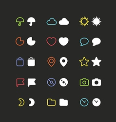 Color web interface icons clip-art vector