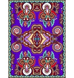 Violet colour ukrainian floral carpet design for vector