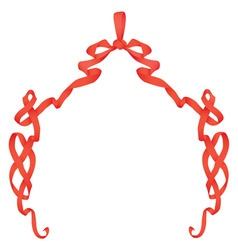Ribbon frame with bow vector