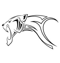 leopard tribal tattoo vector image
