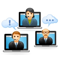 Business people conference call - video conference vector