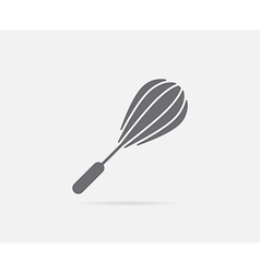 Hand whisk mixer element or icon ready for print vector