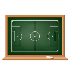 Soccer field drawn on a blackboard vector