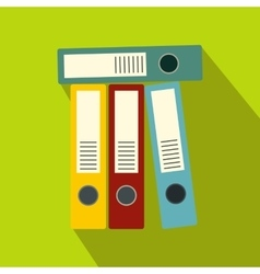 Office folders icon flat style vector image