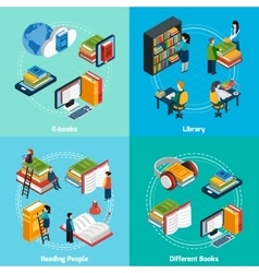 Library Isometric 2x2 Compositions vector image