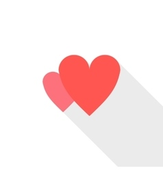 Two heart icon flat style vector image