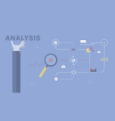 analysis background vector image vector image