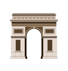 Arc de triomphe - triumphal arc in paris france 2 vector