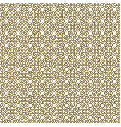 Beige abstract damask pattern backdrop vector