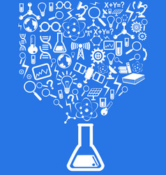 blue science background vector image vector image