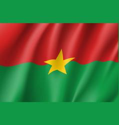 Burkina faco flag vector