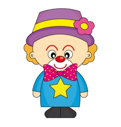 Child dressed as a clown vector image vector image