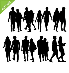 Couples silhouettes vector image vector image