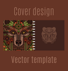 cover design for print with bear vector image vector image