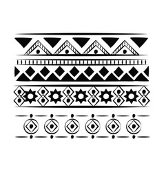 decorative boho pattern background vector image vector image