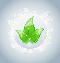 Ecology bubble with green leaves vector image vector image